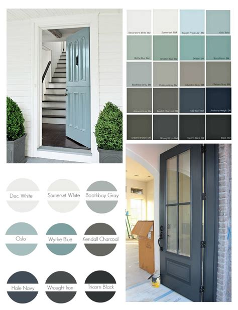 exterior door colors popular front door paint colors inspiration tuesday real shutters