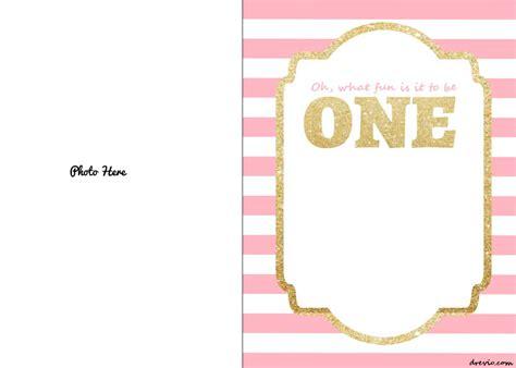 Free Printable 1st Birthday Invitations Template Free Invitation Templates Drevio Gold Birthday Invitation Template