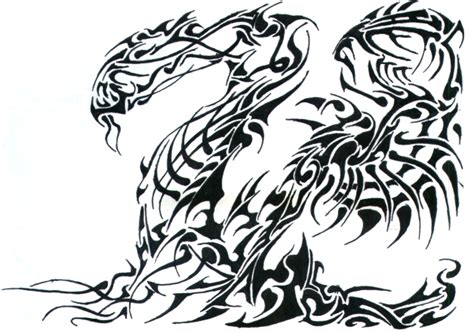 tribal dragon by phantomxxx on deviantart