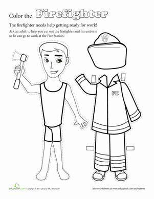paper doll firefighter paper dolls firefighter