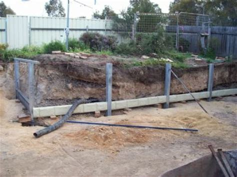 Concrete Sleeper Retaining Wall Installation by Concrete Sleepers Canberra Au