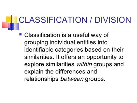 Division Classification Essay Exles by Division Essay Exle