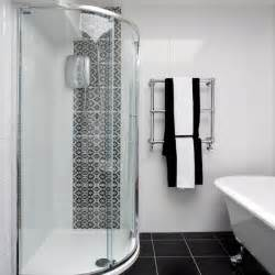 Monochrome Bathroom Ideas by Black And White Bathroom With Patterned Tiles Bathroom