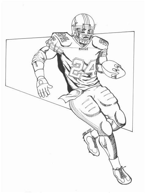 coloring book pages of football players nfl football player drawings redskins sports football