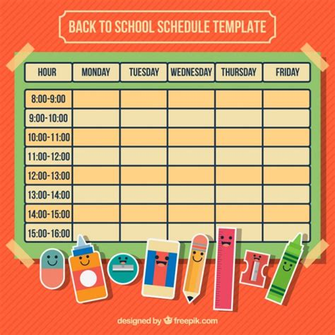 calendar supplies calendar with school supplies for back to school vector