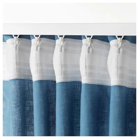aina curtain aina curtains 1 pair blue 145x250 cm ikea
