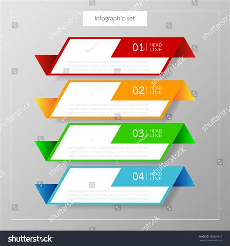 business card box template vector banners infographics template set colorful tabs stock