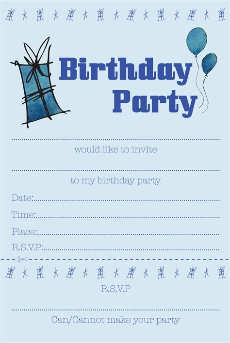 Boy Birthday Invitation Templates Free squashed rainbows children s invites