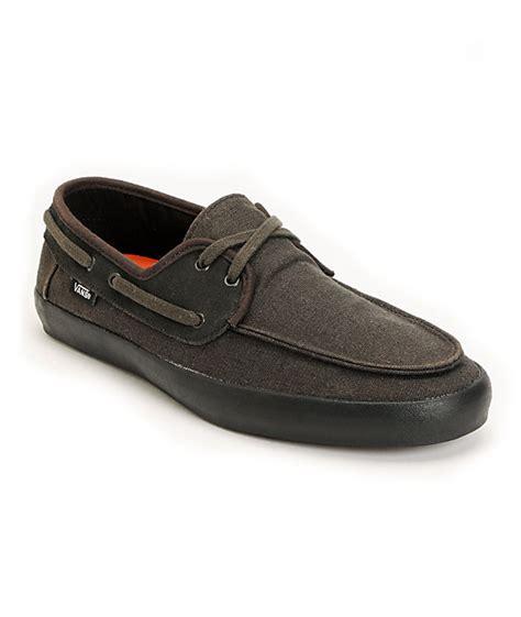 vans chauffeur mens boat shoes vans chauffeur black boat skate shoes mens at zumiez pdp