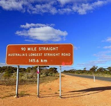 longest straight roads   world