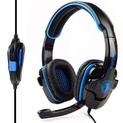Headphone Headset Mic Microphone Gaming B9 sades headsets sades sa 708 stereo gaming headphone headset with microphone ebay