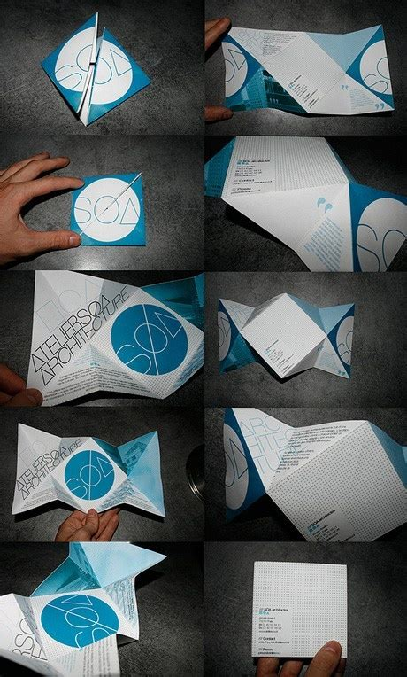 Unique Paper Folds - 25 creative brochure designs for inspiration creatives wall