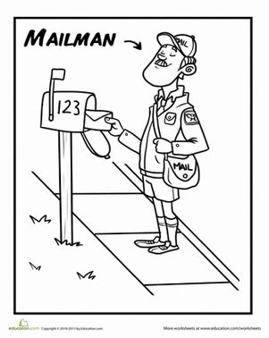 free coloring books by mail mail carrier coloring page coloring pages for familly