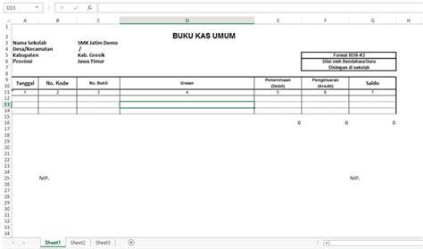format buku kas umum bos excel contoh format buku kas umum images