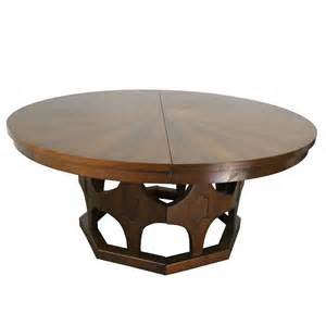 Expandable Round Dining Table by 1960s Mid Century Expandable Round Walnut Dining Table At