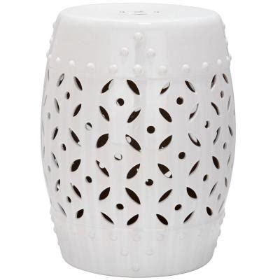 Ceramic Stool White by Safavieh Lattice Coin White Ceramic Patio Stool Acs4510a