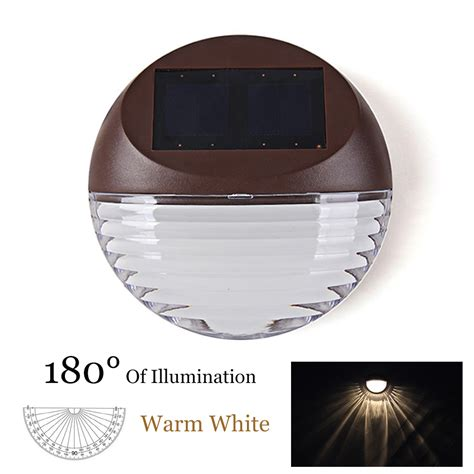 Lu Led Warm White 4pcs lot led solar light 2led warm white waterproof ip55