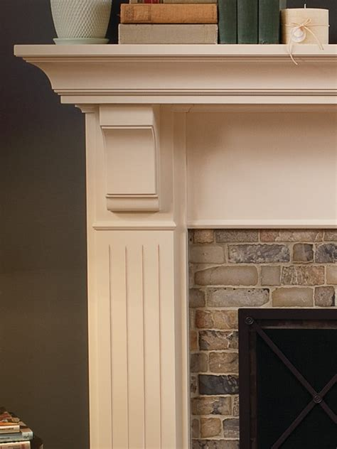 Traditional Brick Fireplace by Traditional Millwork Fireplace Surrounds