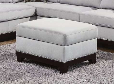 Gray Ottoman Grey Fabric Ottoman A Sofa Furniture Outlet Los Angeles Ca
