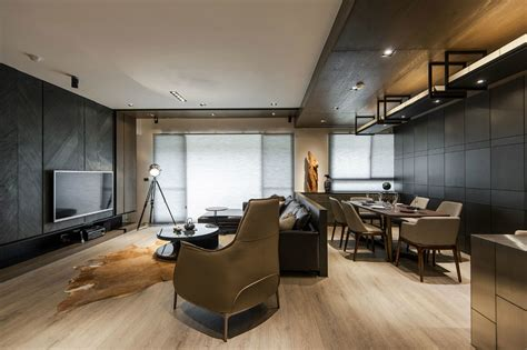 interior spotlights home and wood a masculine interior