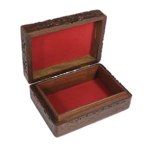 handmade decorative jewelry box wooden storage keepsake