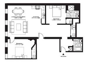 Bed Floor Plan by Exquisite Luxury 2 Bedroom Apartment Floor Plans On