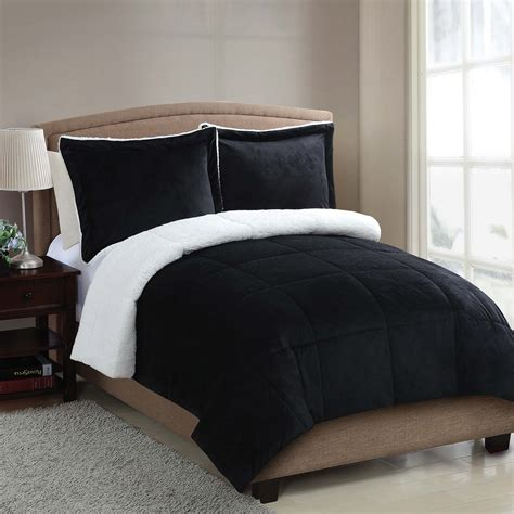 sherpa bedding micro mink sherpa 2pc comforter set