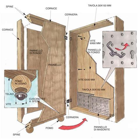 costruire armadietto in legno armadietto in legno attrezzato per gli utensili