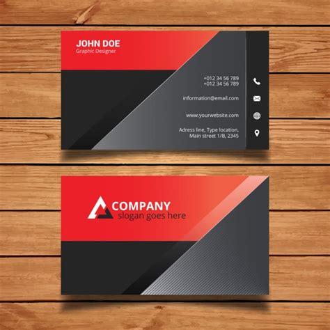 Moderne Visitenkarten Vorlage Rote Und Schwarze Moderne Visitenkarte Vorlage Der Kostenlosen Vektor