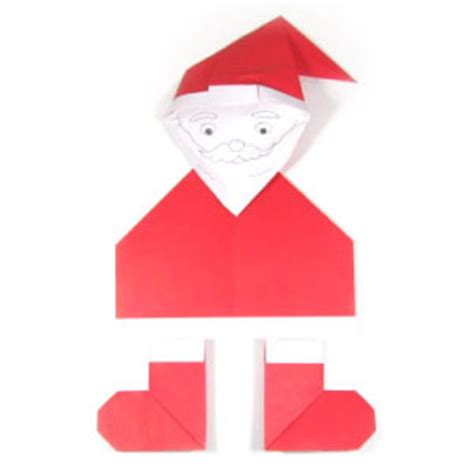 Simple Origami Santa Claus - how to make an easy origami santa claus page 1