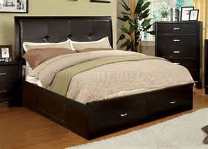 Platform Bed Options Cm7066 Enrico Iii Bedroom In Espresso W Platform Bed Options