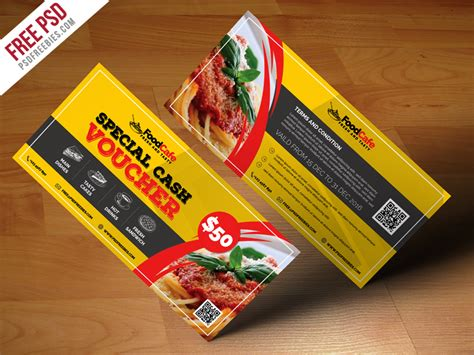 free burger coupon card template psd food voucher template free psd psd
