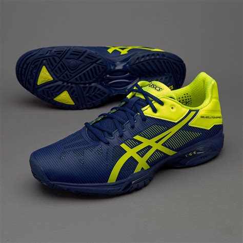 Sepatu Asics Gel Equation sepatu tenis asics original gel solution speed 3 indigo blue safety yellow