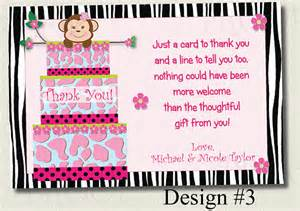 printable thank you card baby shower jungle cake by allewiredups
