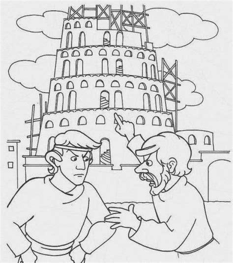 imagenes para colorear torre de babel dibujos biblicos para colorear de la torre de babel imagui