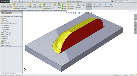 tutorial solidworks plastics how to make custom forming tool louvers in solidworks