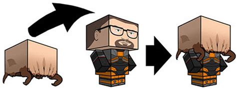 Headcrab Papercraft - gordon freeman headcrab best papercraft yet