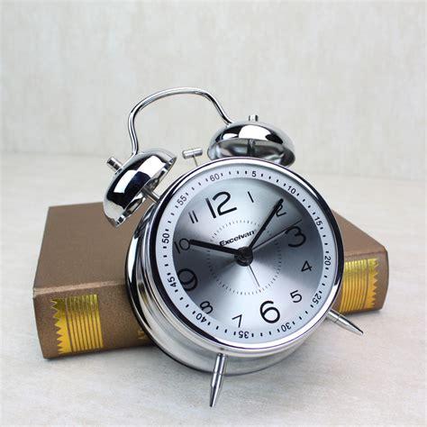 bell alarm clock vintage retro loud clocks battery bedside desk analogue