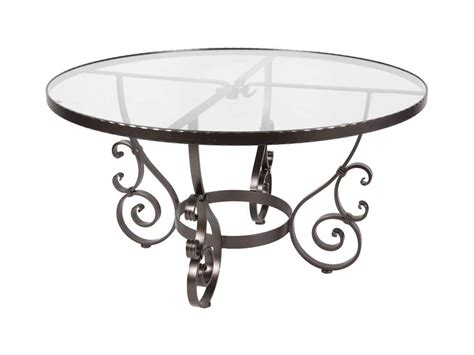 Glass Wrought Iron Dining Table Ow San Cristobal Wrought Iron 54 Glass Dining Table 6 54g