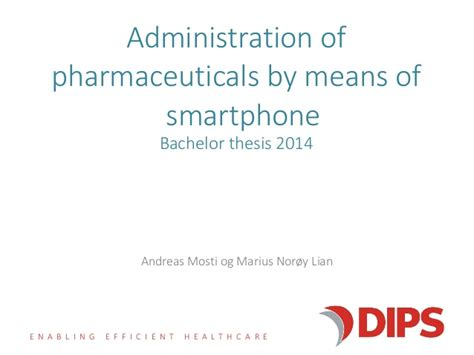bachelor thesis administration  pharmaceuticals  means  smartp