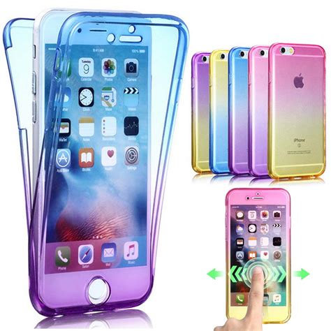 Tpu 360 Iphone 5 6 6 Plus 7 7 Plus new soft for coque iphone 7 360 protective waterproof tpu funda cover for iphone
