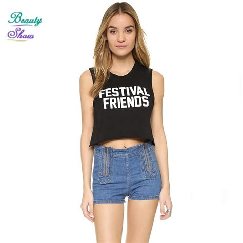 29797 Summer Crop Top summer 2017 new fashion cropped tops letter print sleeveless o neck crop tops high