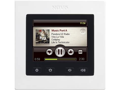 nuvo nv i8gcp colour touch screen multiroom audio at