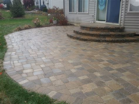 Paver Patio Steps Patio Pavers Patio Design Ideas