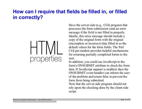 html tutorial questions answers top html interview questions and answers job interview tips
