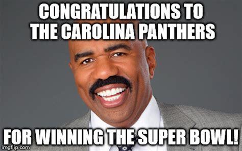 Carolina Panthers Memes - image tagged in steve harvey super bowl imgflip