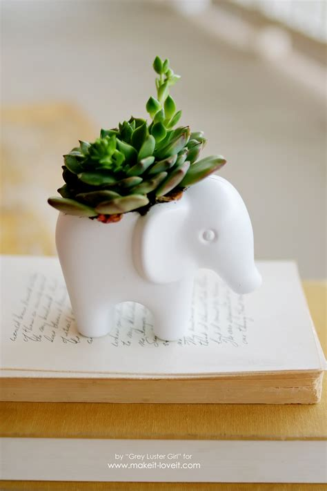 diy succulent planter diy toy elephant succulent planter make it and love it