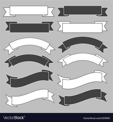 ribbon banner royalty  vector image vectorstock