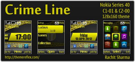 themes nokia mobile c1 crime line theme for nokia x2 c2 01 240 215 320 themereflex