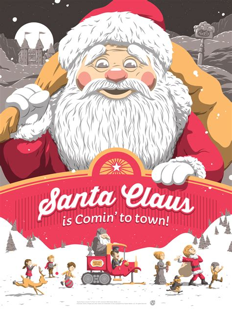 Santa Claus Coming santa claus is comin to town by florey 411posters